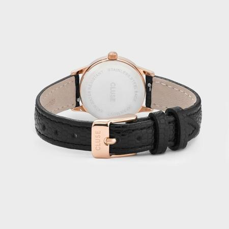 CLUSE LA VEDETTE CL50028 WATCH - ROSE GOLD/CHAMPAGNE/BLACK LIZARD