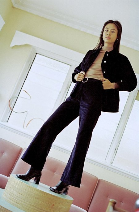 Sister 'Coco' Flare Pants - Navy