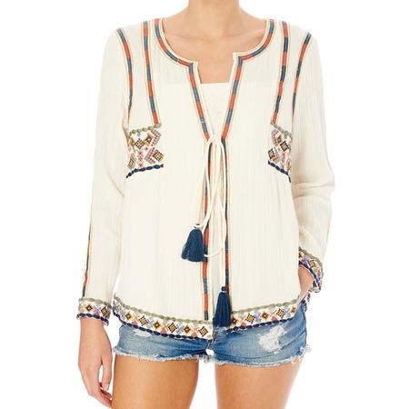Star Mela Anouk Embroidered Jacket - Ecru