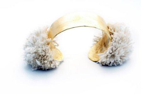TAKARA Pom Gold Cuff - IVORY