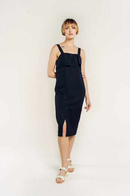 First Rite Ruffle Dress - Black