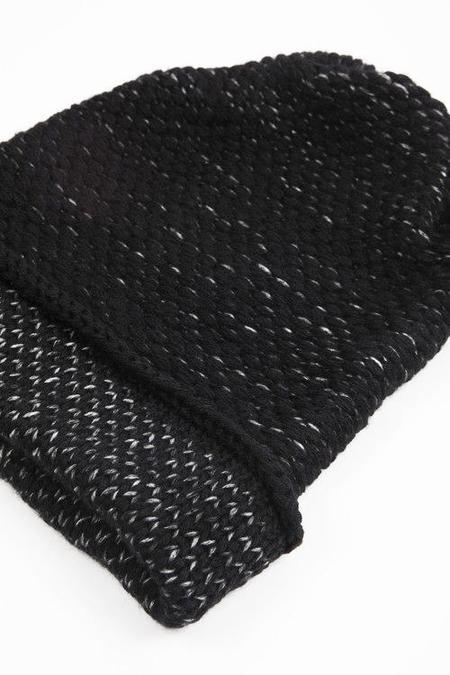 Kordal Ellen Seed Stitch Hat - Black/Dark Grey