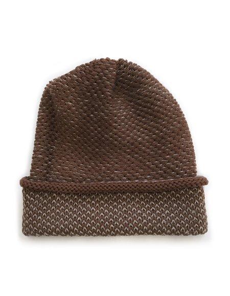 Ellen Seed Stitch Hat - Brown/Camel