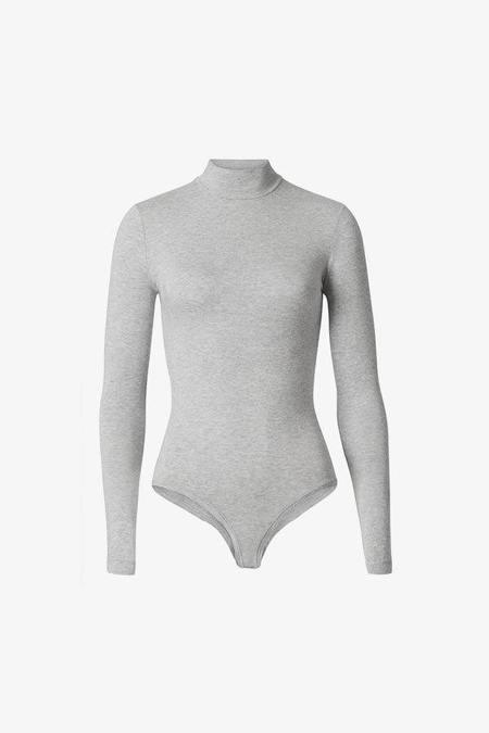 Woron sleek long sleeve modal bodysuit - GREY