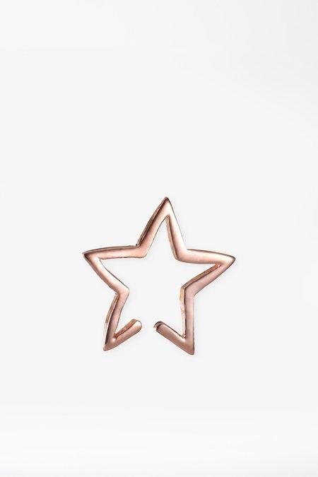 Tada & Toy Rose Gold Star Cuff Earring