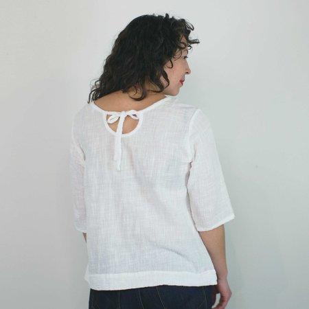 modaspia Pintuck Blouse - White