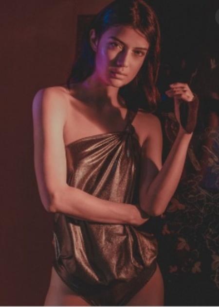 Suki Cohen Body Atenea Swimsuit - gold