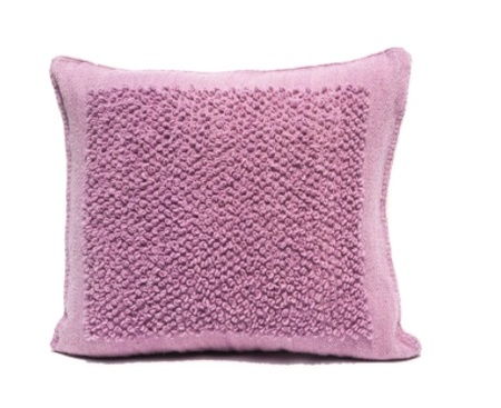 Mexchic Boucle Cotorin Texture Wool Floor Pillow - Lilac