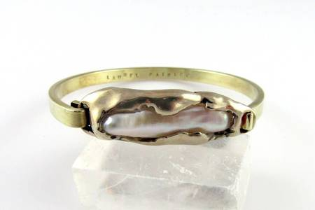 Laurel Patrick Molten Pearl Hinged Bracelet
