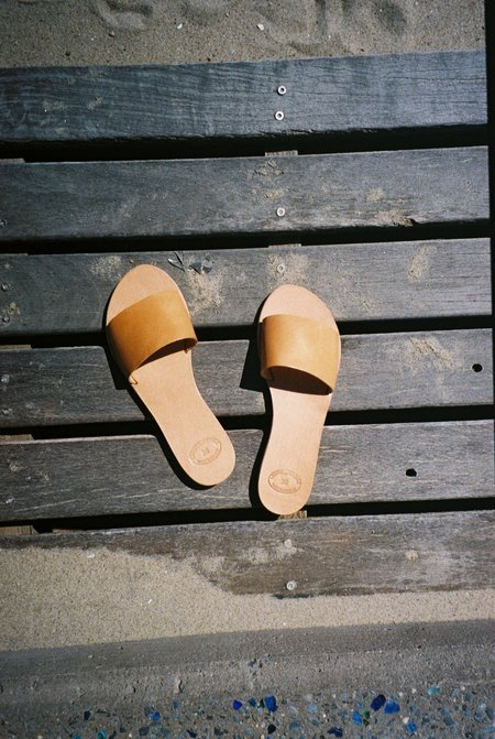 Off Season NYC Greecian Leather Slide Sandal