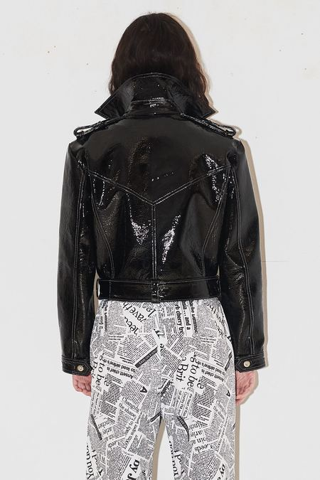Jovana Markovic Leather Jacket - Black