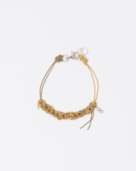 Arielle De Pinto Two Tone Bare Chain Bracelet - Gold/Haze