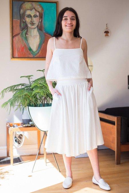 Amanda Moss Val Cami top - White