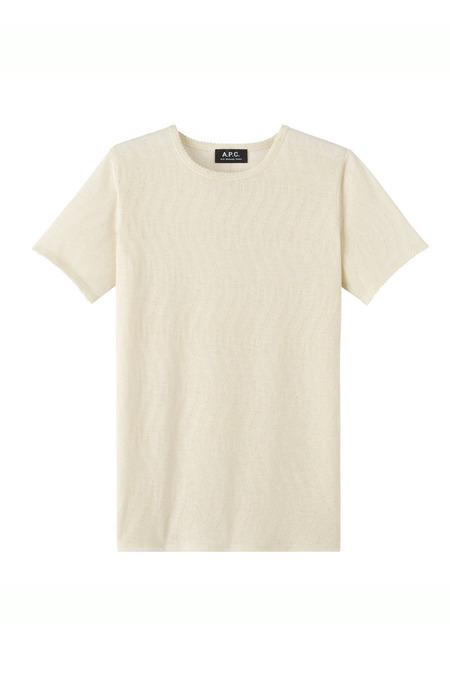 A.P.C. Bail Mastic T-Shirt - Ecru