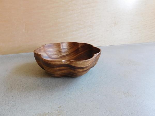 Acacia Wood Flared Bowl