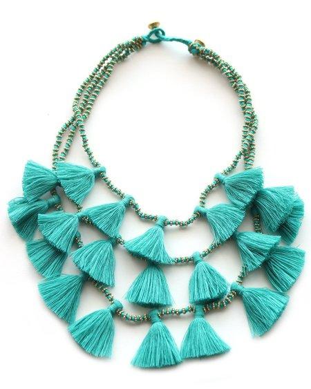 Bluma Project Gia Tassel Necklace - Turquoise