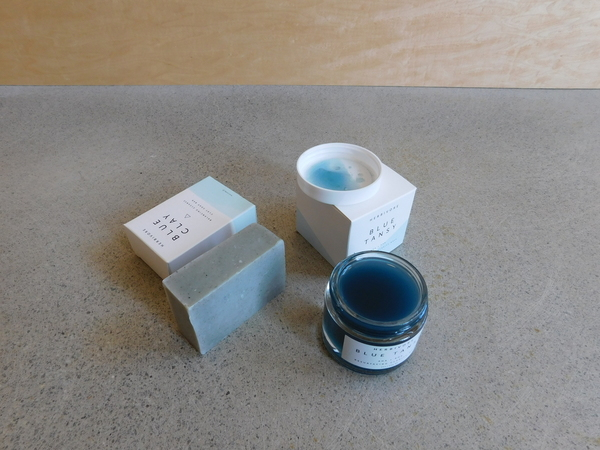 Herbivore Botanicals Blue Clay Soap + Blue Tansy Mask Set