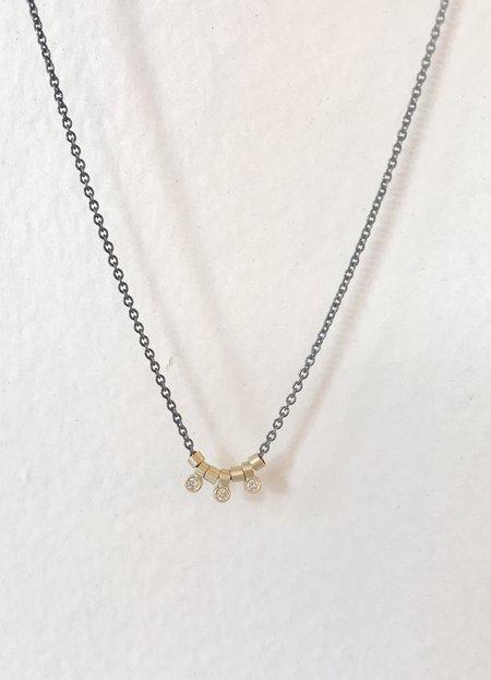 Nicole Kwon Diamond Trio Necklace