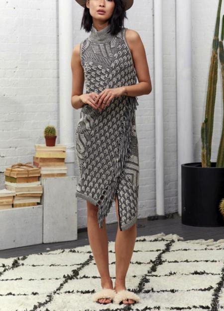 Laura Siegel Embossed Effect Baby Alpaca Dress