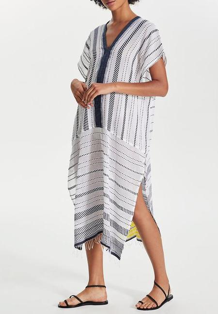 lemlem Saba Long Caftan - White