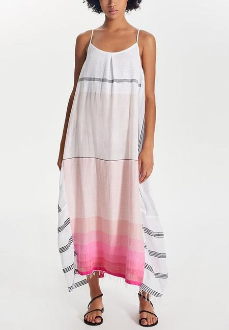 Lemlem Zena Slip Dress - Raspberry