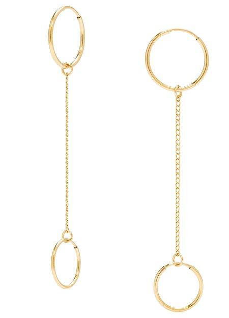 PHYLLIS AND ROSIE Double Convertible Hoop Earrings - GOLD
