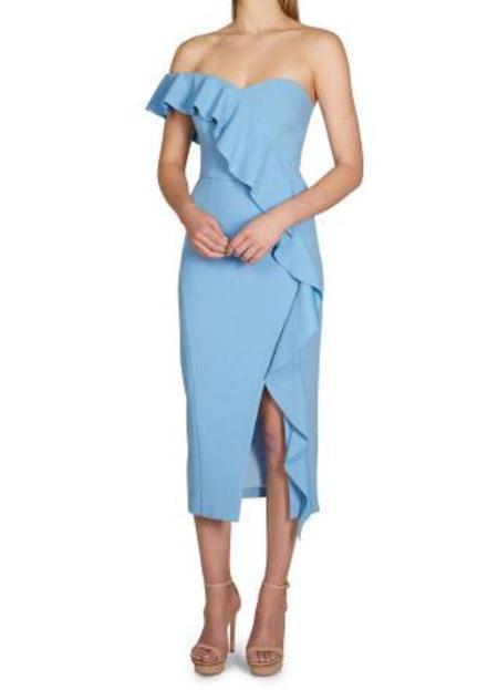 Rebecca Vallance Montecarlo Strapless Midi Dress - Riviera