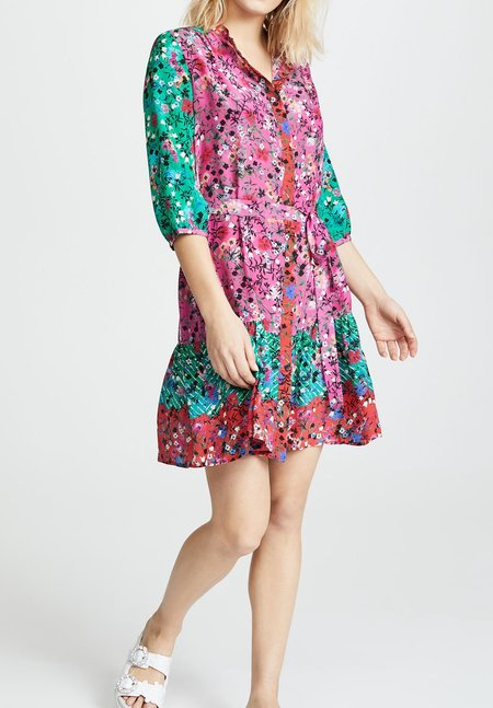 Saloni Tyra Dress - Tie-Dye Meadow