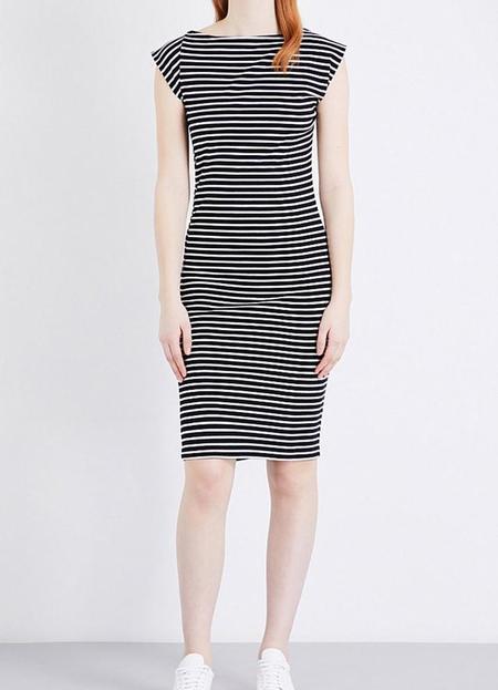 Study Twist Dress - Navy Stripes