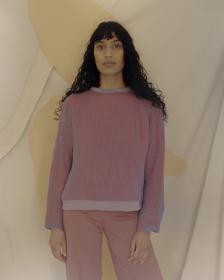 Unisex Halo Labels GAUZE sweatshirt - PURPLE