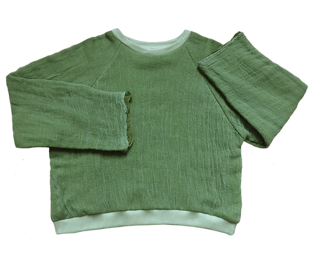 Unisex Halo Labels GAUZE sweatshirt - GREEN