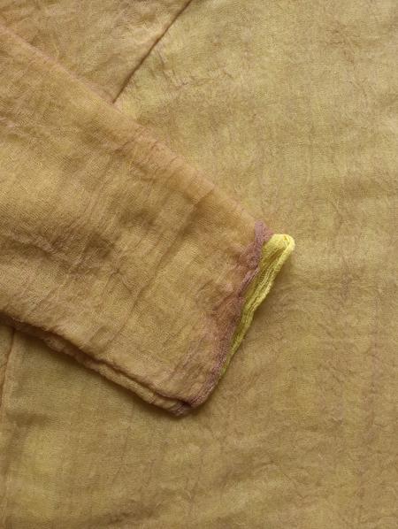 Halo Labels GAUZE sweatshirt - YELLOW