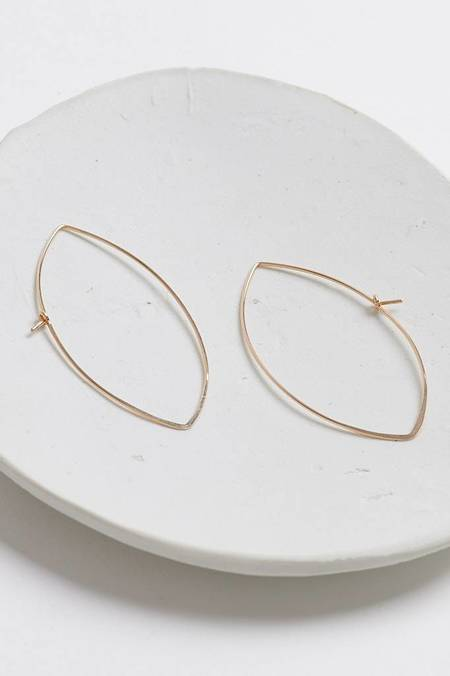 Chibi Jewels Leaf Hammered Earrings - Gold Filled