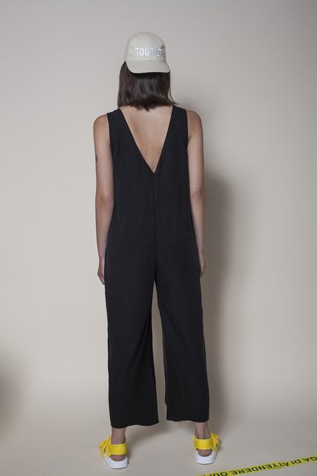 Vender The V neck Jumpsuit - Black