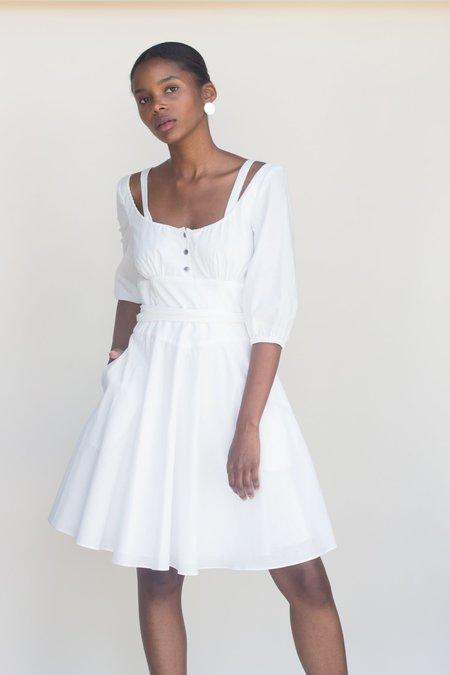 Plante Primrose Dress - White