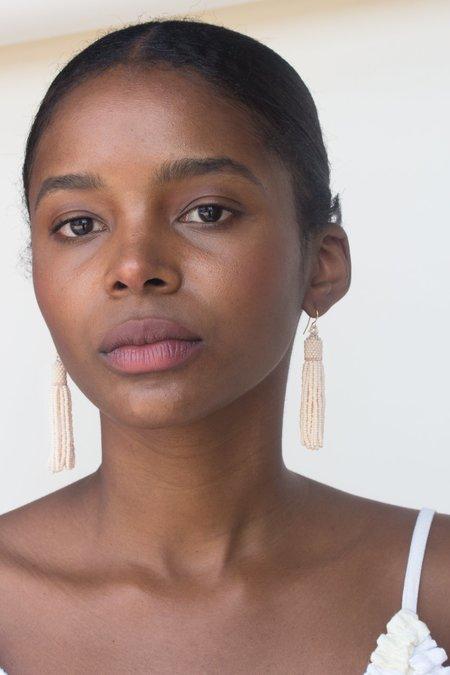 Zartiztry Tassel Earrings - Creme