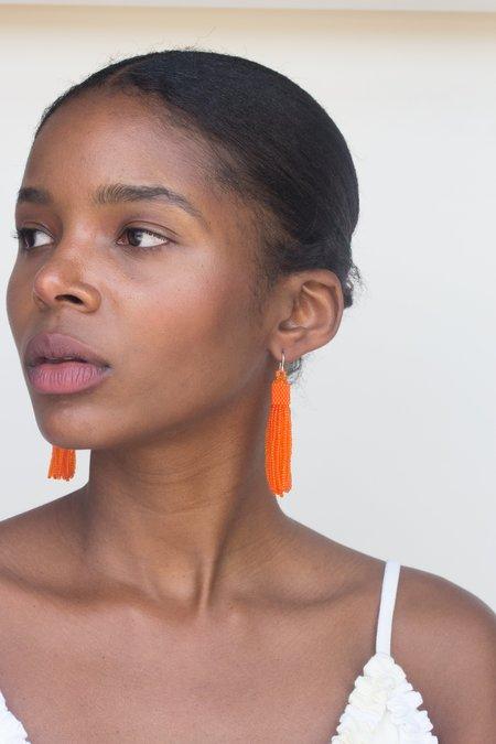 Zartiztry Tassel Earrings - Orange