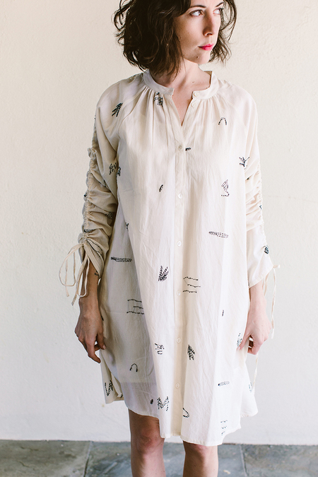 Seek Collective Embroidered Shirtdress
