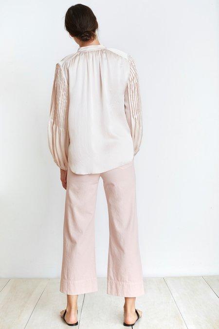Apiece Apart Silk Pintuck Blouse
