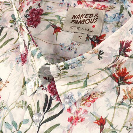 Naked & Famous Antique Botanical Painting Shirt