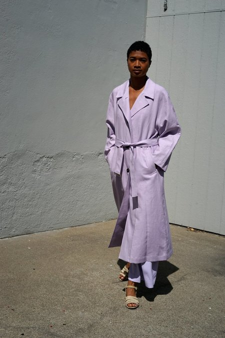 Waltz Oversized Trench Coat - Lilac