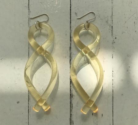 Corey Moranis Twist Earrings - Yellow