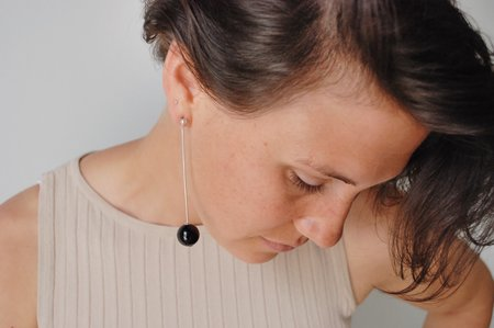 5th26 Black Onyx Calder Earrings