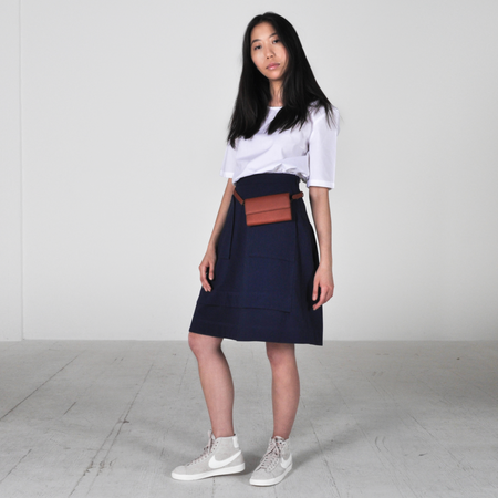 Peter Jensen Back Gathered Skirt