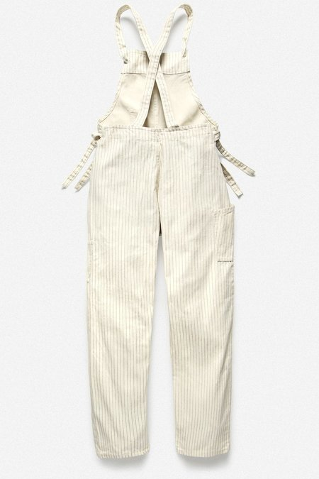 House of St Clair  Stripe Utilitarian Overall - White
