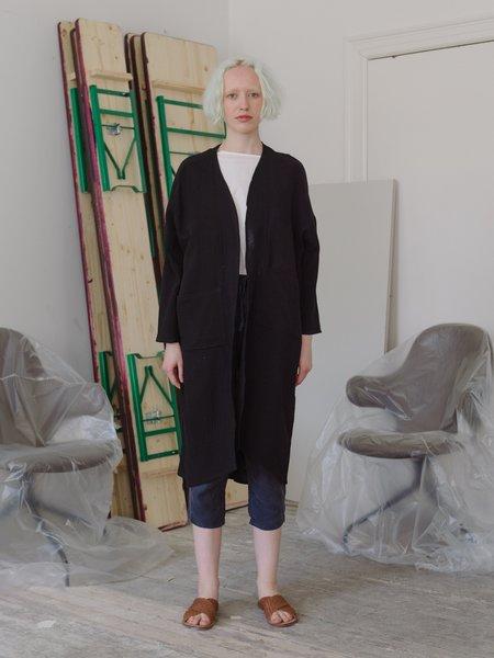 Priory Shop Cotton Gauze Ro Jacket - Black