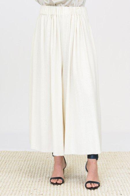 Miranda Bennett Palazzo Pants - Raw Silk Natural