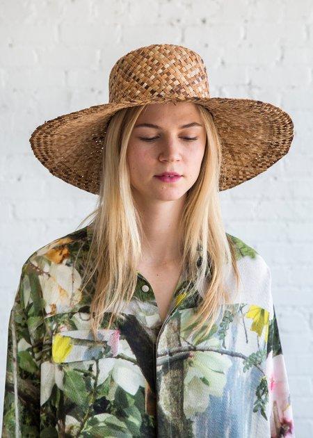 Clyde Wide Brim Flat Top Hat - Bac Bac