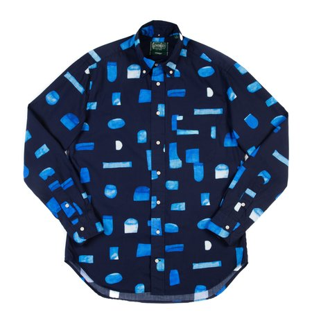 Gitman Vintage Long Sleeve Shirt - Abstract Blues