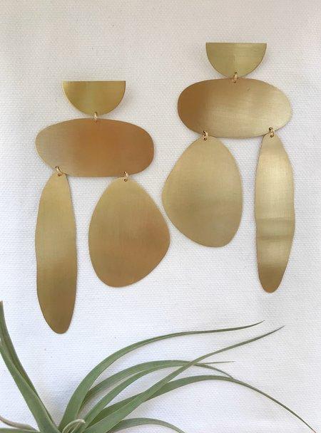 Laura Estrada Lluvia Earrings - Brass